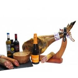 Lote 3 - Paleta, embutido y vino